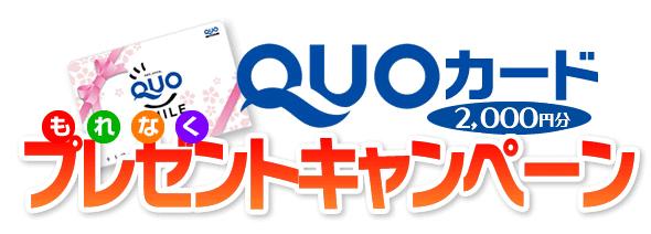 2000円のQUOカードプレゼント